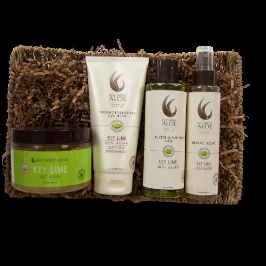 Savor Key Lime Bath Gift Set From Key West Aloe
