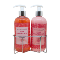 Pink Grapefruit Sink Duo, Hand Lotion made with 50% Aloe and Hand Wash made with 20% Aloe