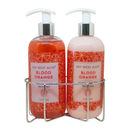 Blood Orange Sink Duo, Hand Lotion made with 50% Aloe and Hand Wash made with 20%
