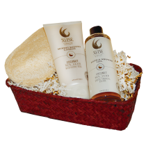 Tropical Coconut Bath Gift Set from Key West Aloe