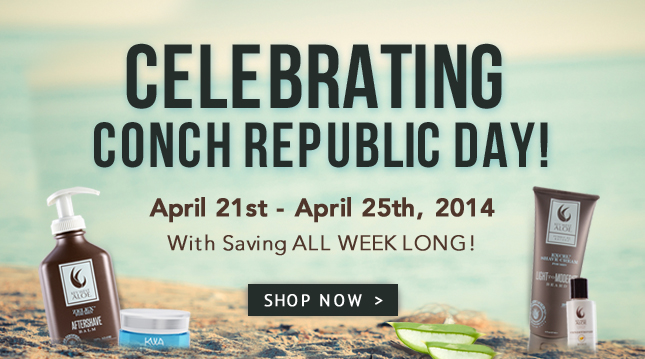 Conch Republic Day - Save with Key West Aloe all week long