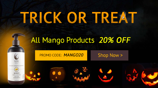 TRICK OR TREAT. All Mango Products 20% OFF! CODE: MANGO20 SHOP NOW