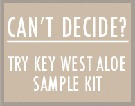 Can't Decide! Try Key West Aloe Sample KIT!